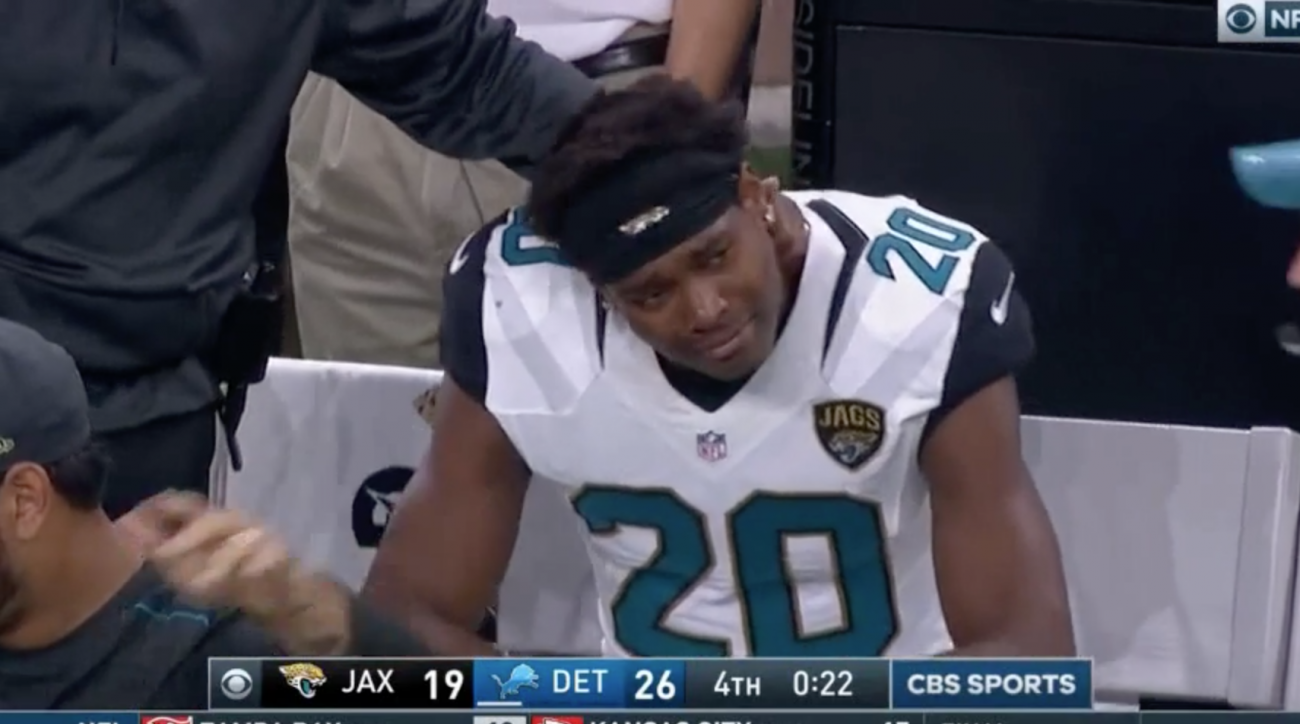 Jalen Ramsey: Jaguars DB in tears during Lions loss