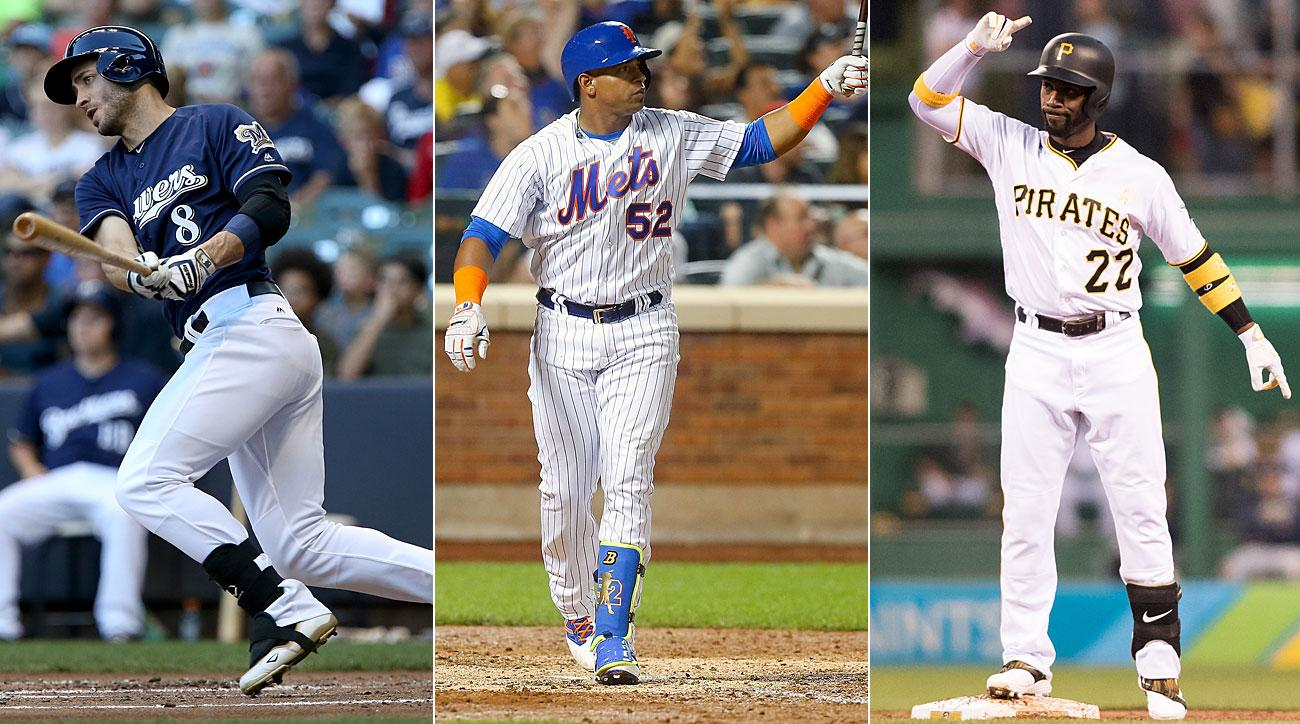 Ryan Braun, Milwaukee Brewers; Yoenis Cespedes, New York Mets; Andrew McCutchen, Pittsburgh Pirates