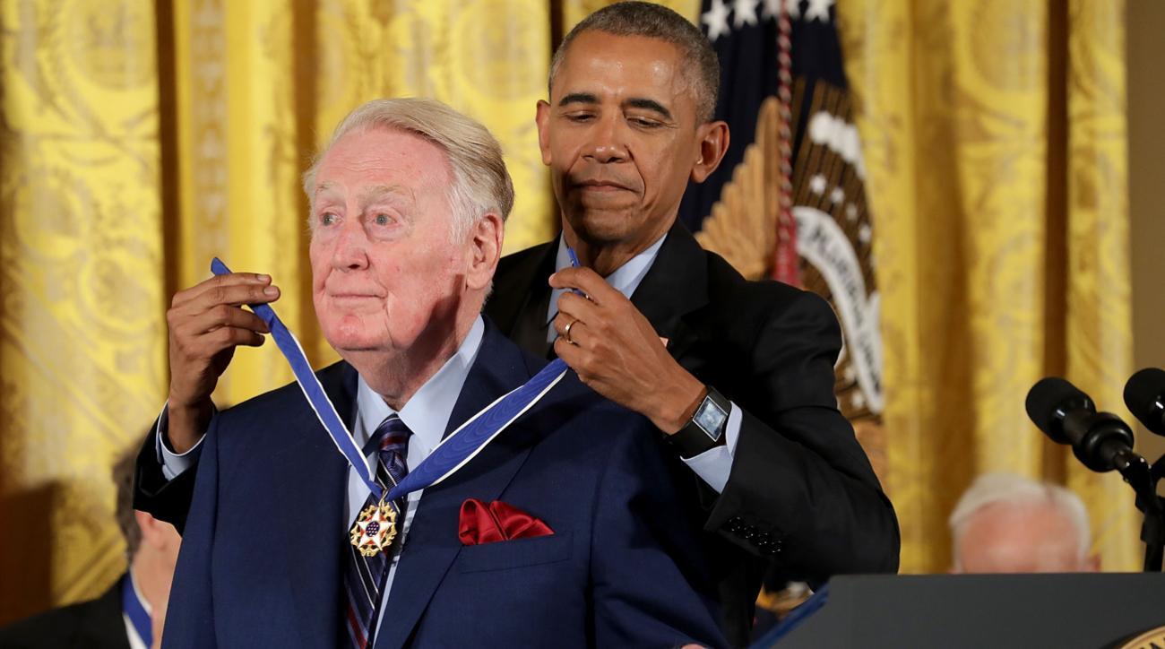 vin scully barack obama speech medal of freedom