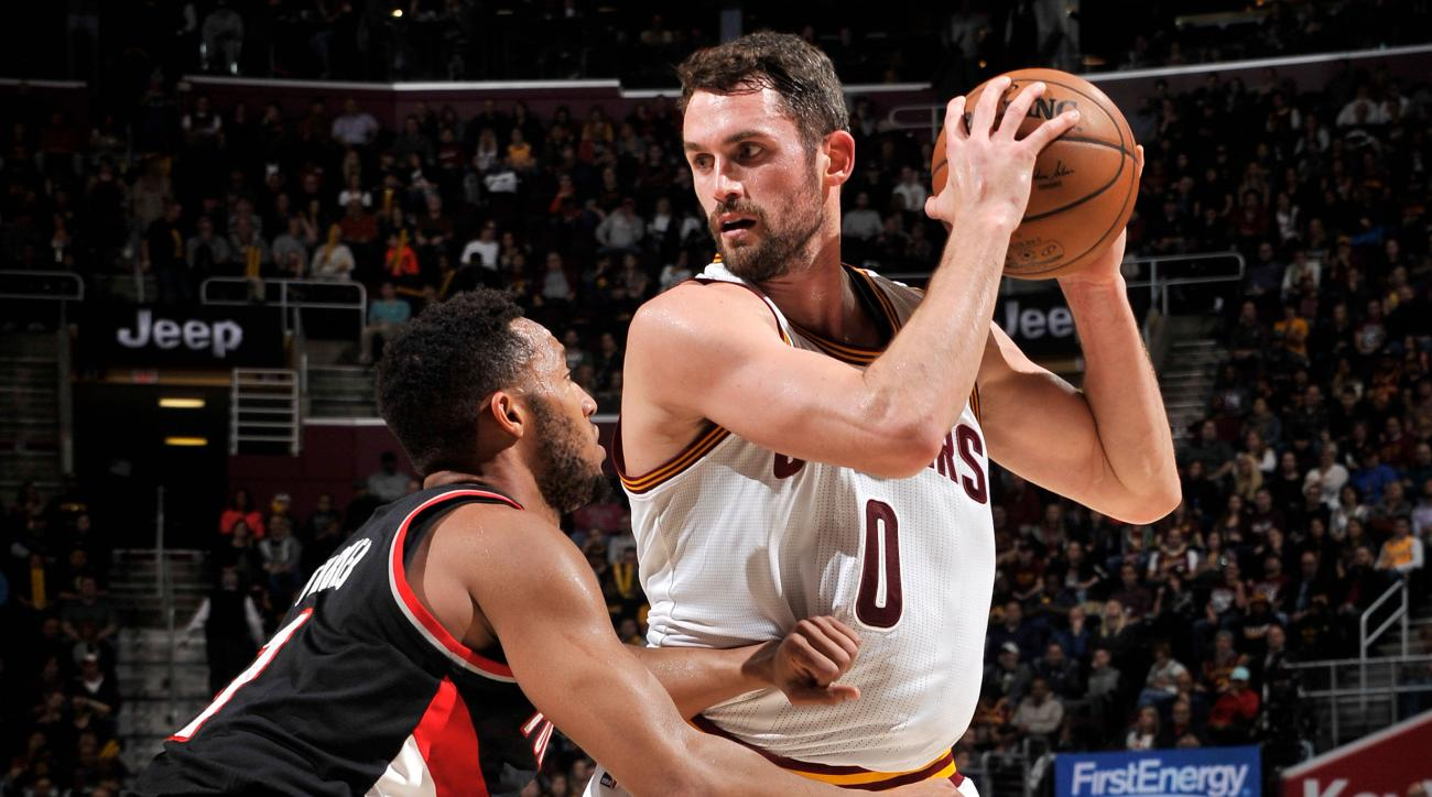 Watch: Cavs' Kevin Love scores 34 points in first quarter vs. Blazers