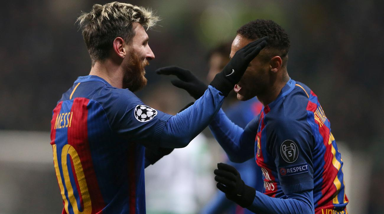 Messi and Neymar combine for a beautiful goal in Barcelona's Champions League match vs. Celtic