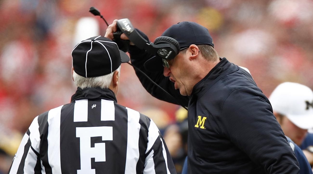 jim harbaugh rips officials