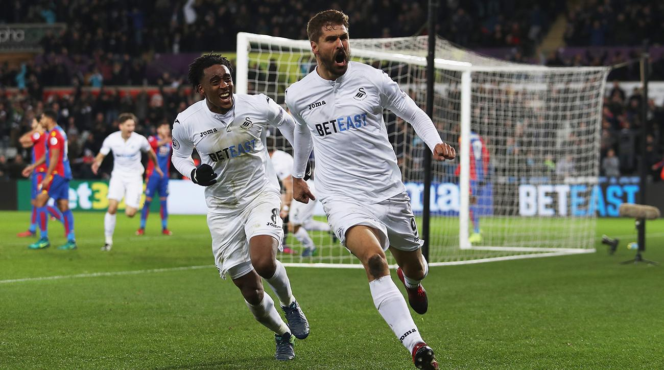 swansea city comes back to beat crystal palace