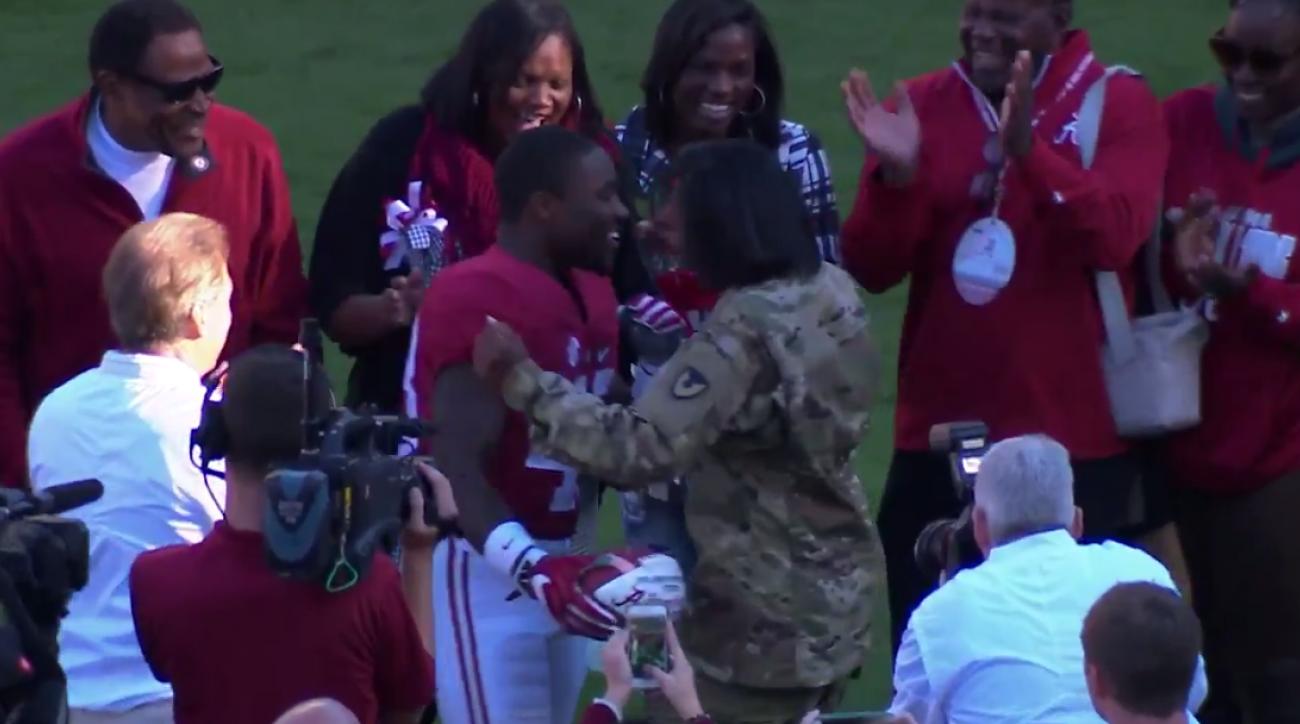 Alabama football: Senior Day surprise for military mom