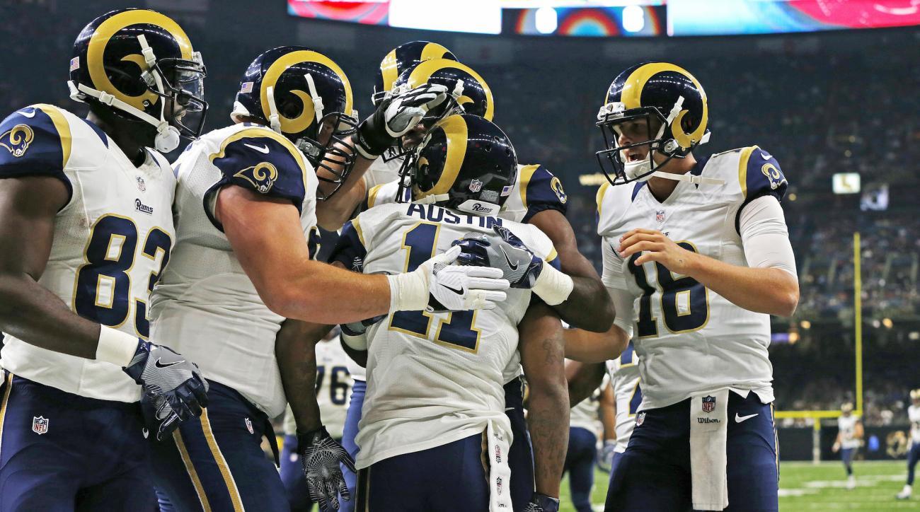 Jared Goff: Rams QB's first NFL touchdown pass (video)