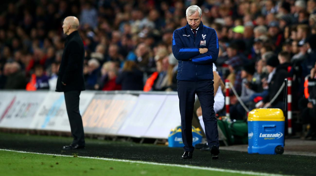 Alan Pardew is on the hot seat at Crystal Palace