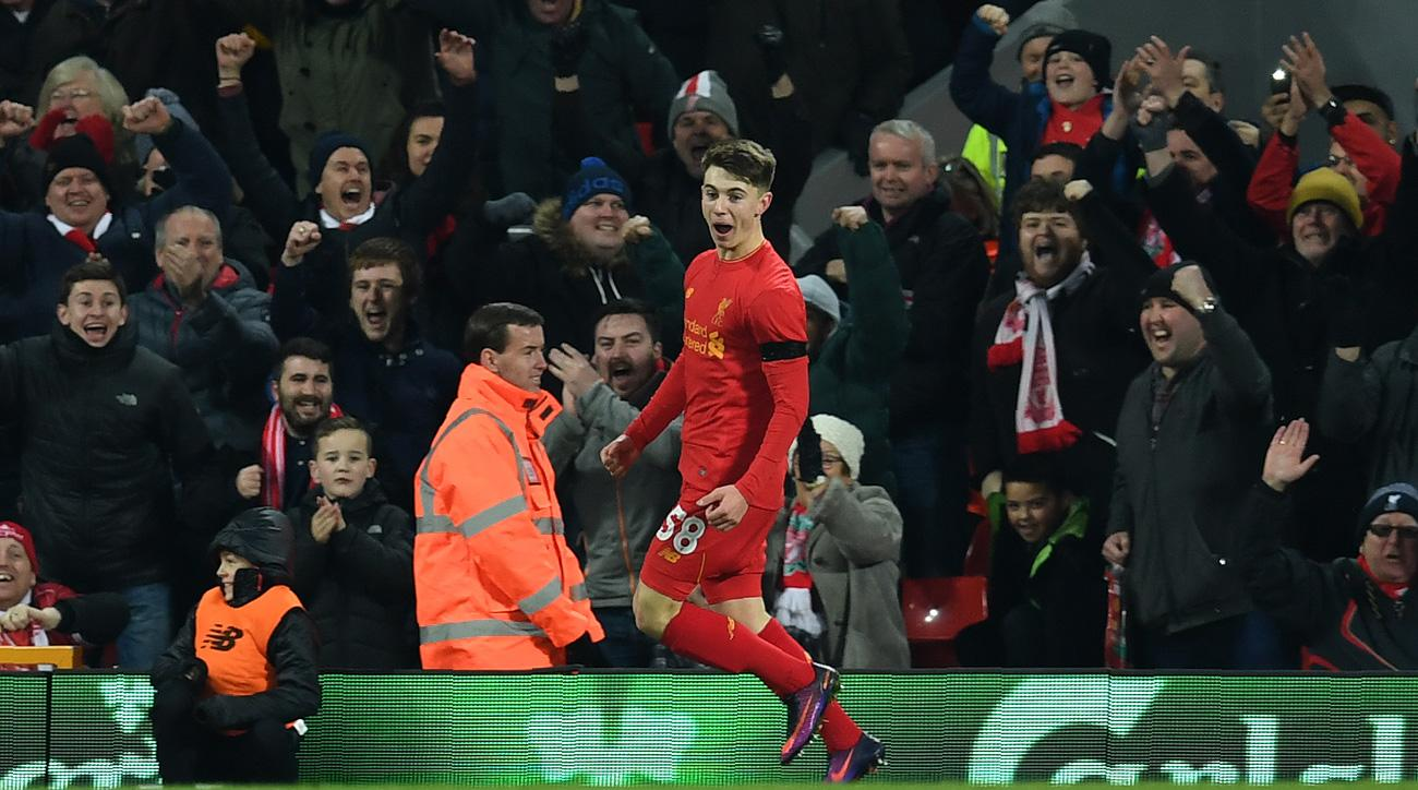 Ben Woodburn, 17, scores for Liverpool in the League Cup