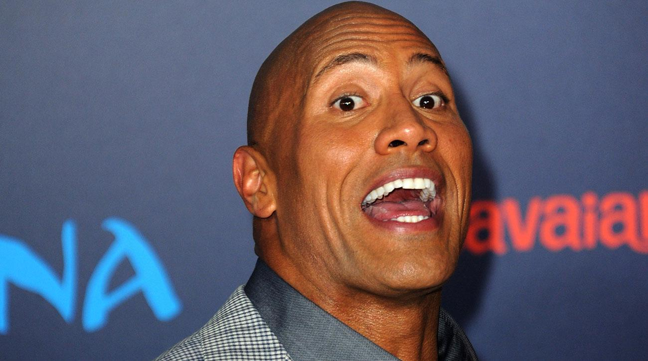 the rock pulled teammate tongue story