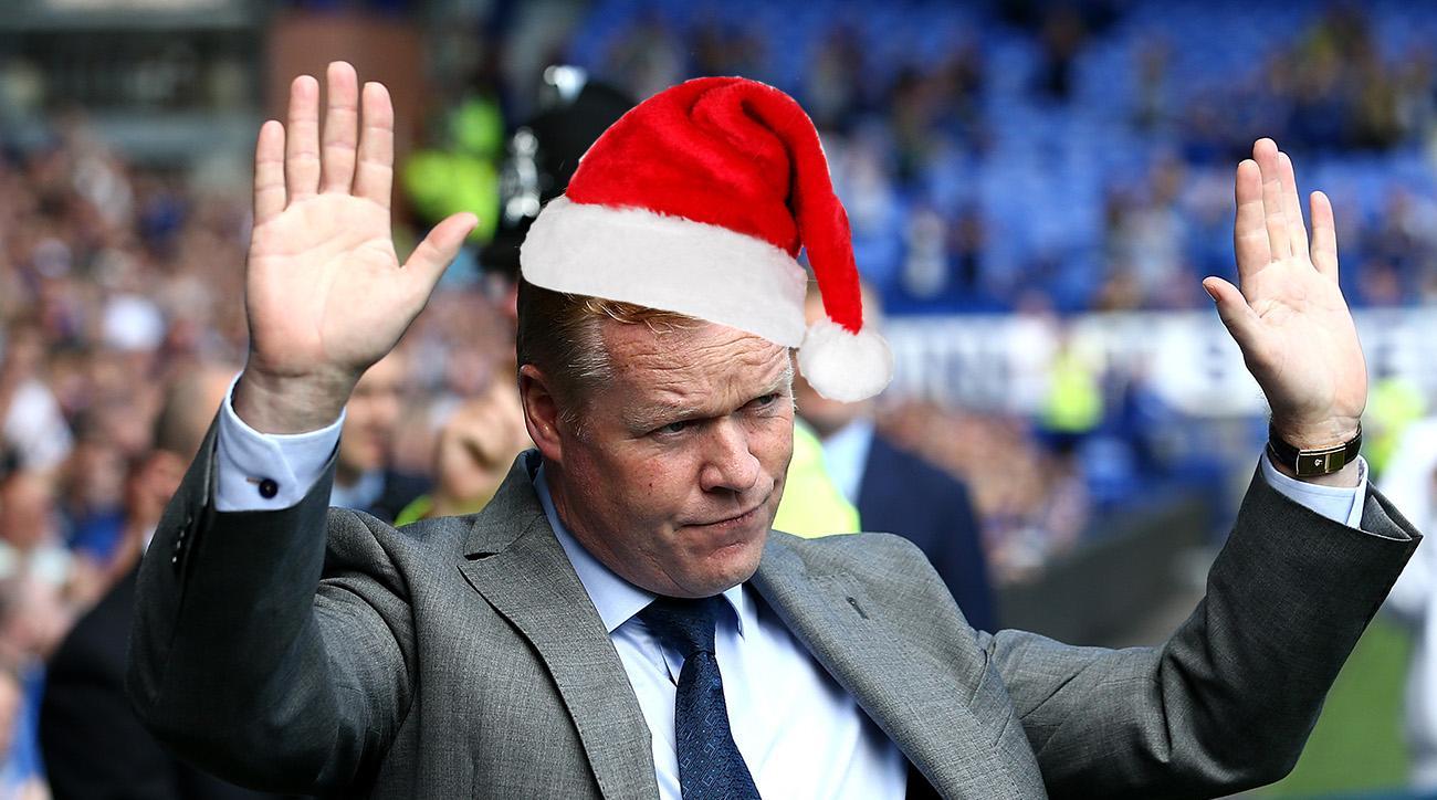 Everton's Ronald Koeman red Christmas tree upsets fans