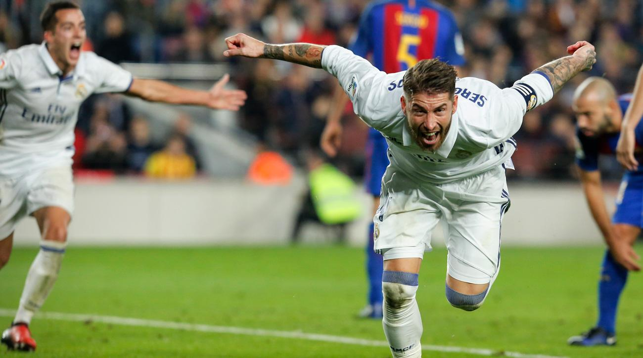 Sergio Ramos scores a key equalizer in El Clasico for Real Madrid