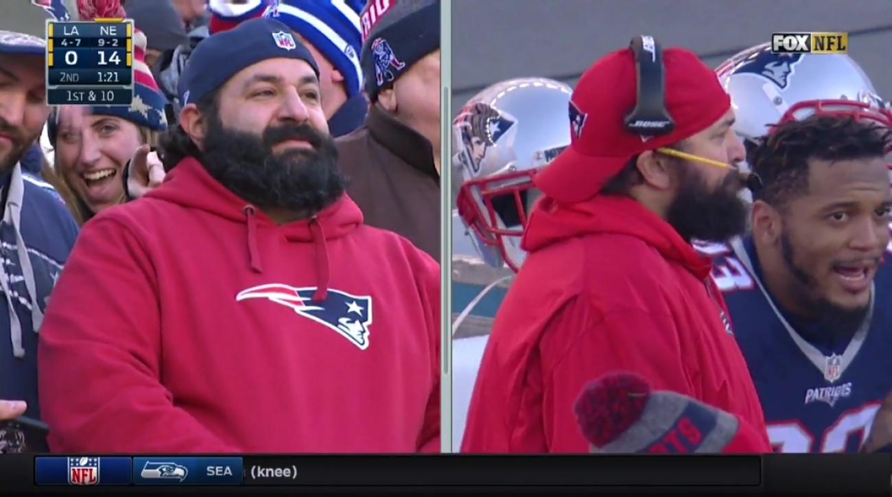 New England Patriots: Matt Patricia doppelganger in stands