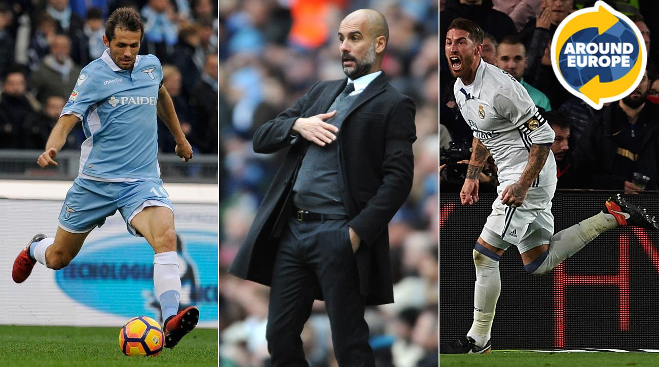 Senad Lulic, Pep Guardiola and Sergio Ramos headline the weekend's action Around Europe