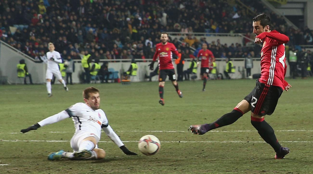Henrikh Mkhitaryan and Manchester United are on to the Europa League knockout stage