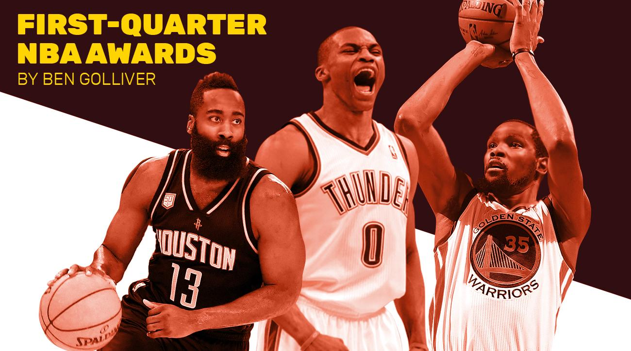 NBA first-quarter awards