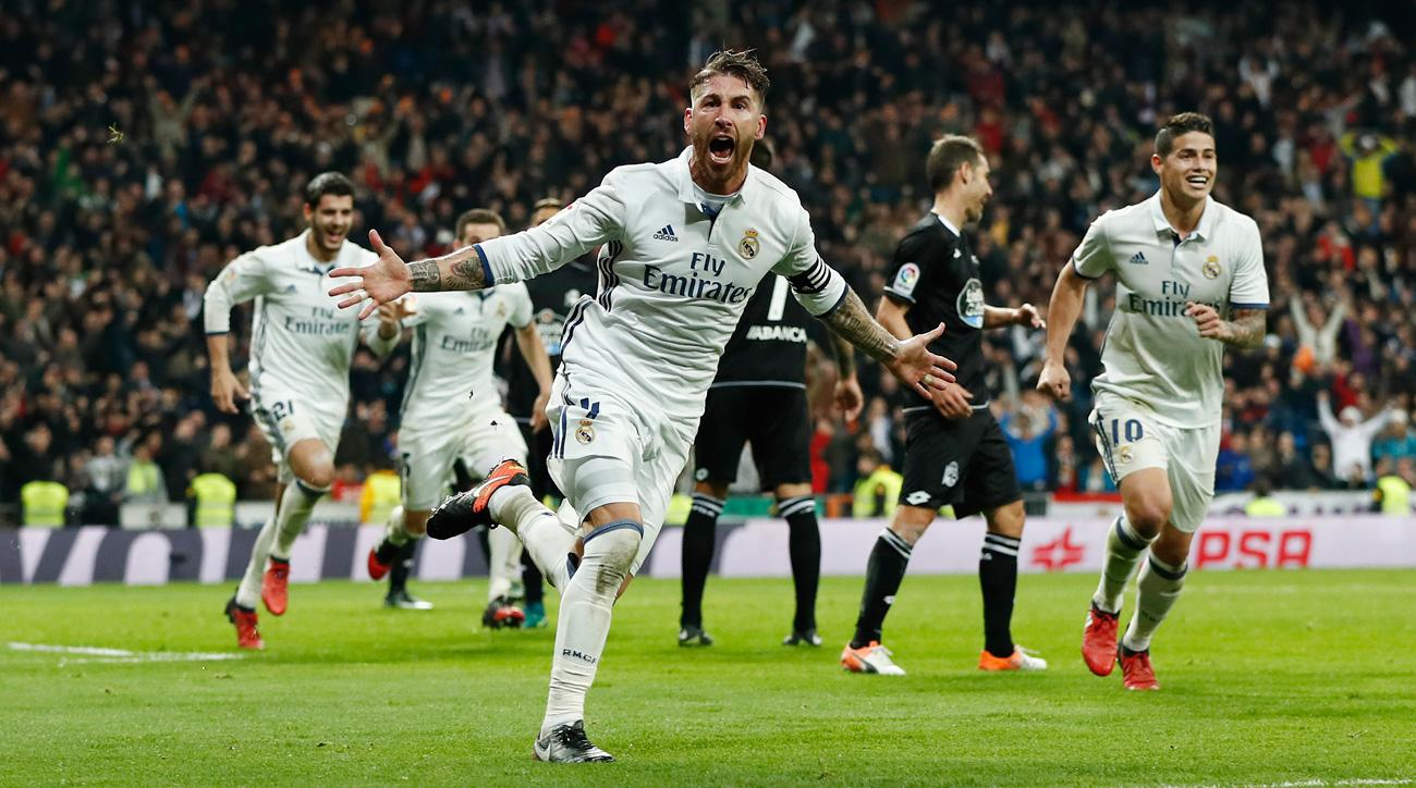 Sergio Ramos scores a late winner for Real Madrid
