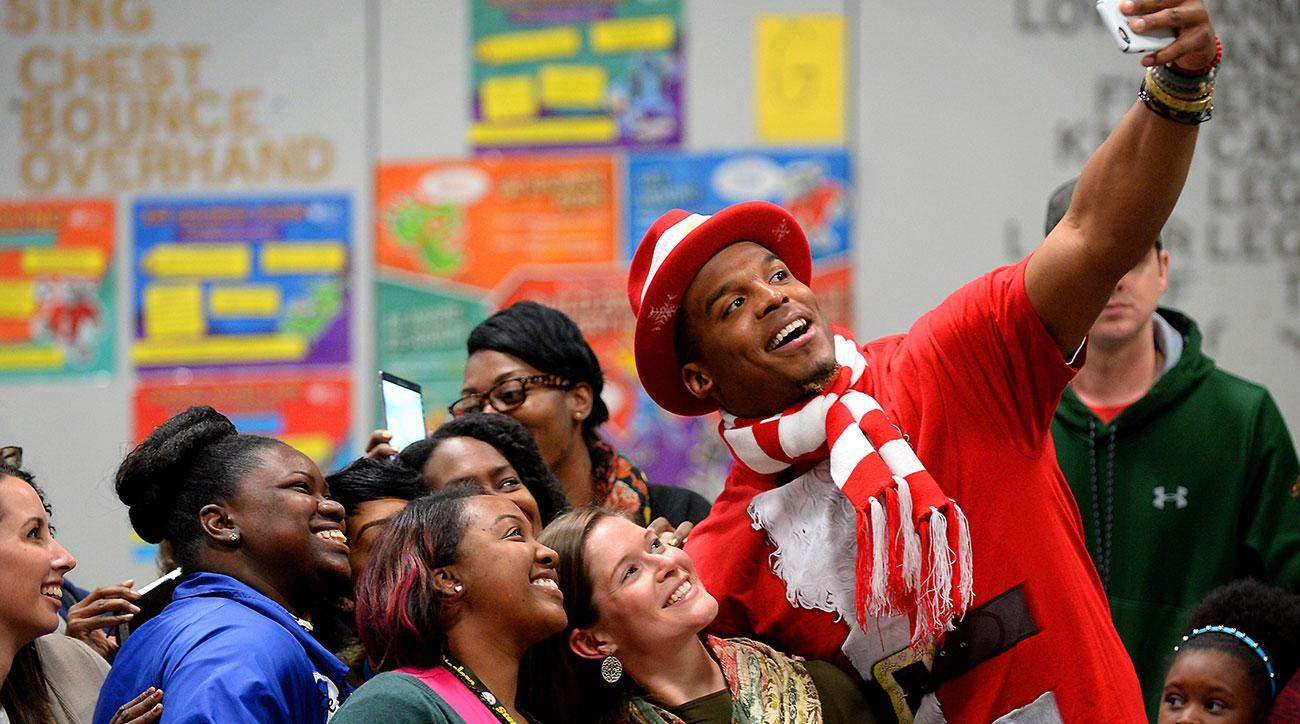 cam newton santa claus costume