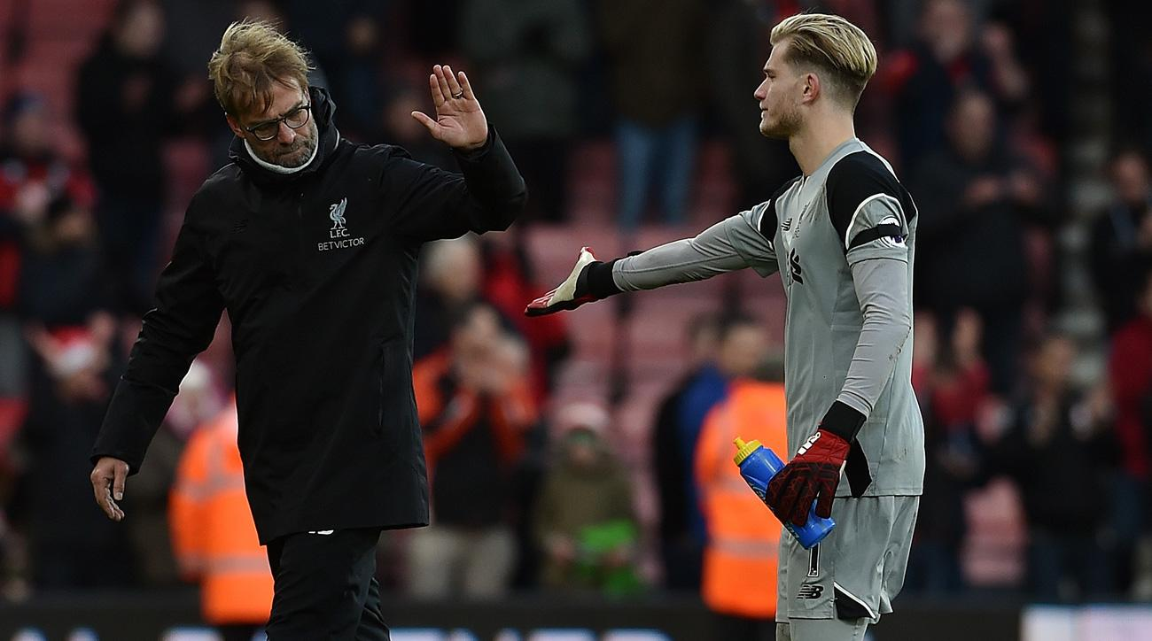 Jurgen Klopp has benched Loris Karius amid a spat with the Neville brothers