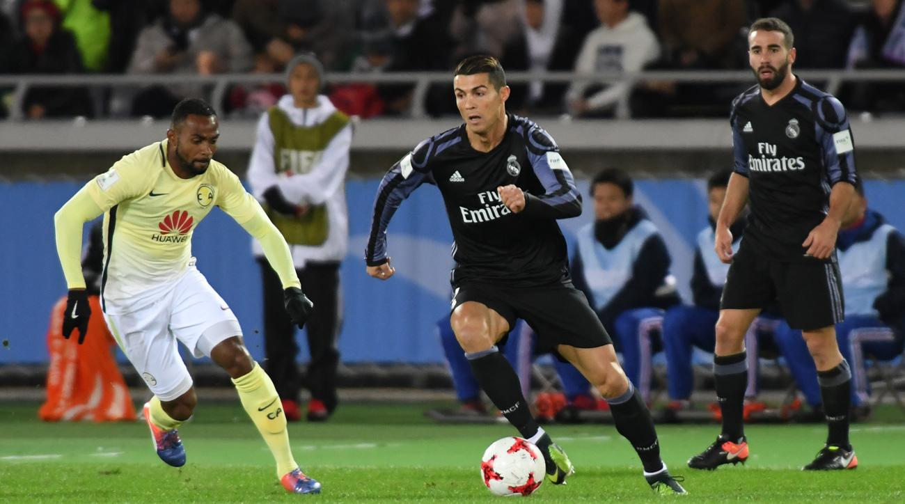 Cristiano Ronaldo scores for Real Madrid vs Club America in the Club World Cup
