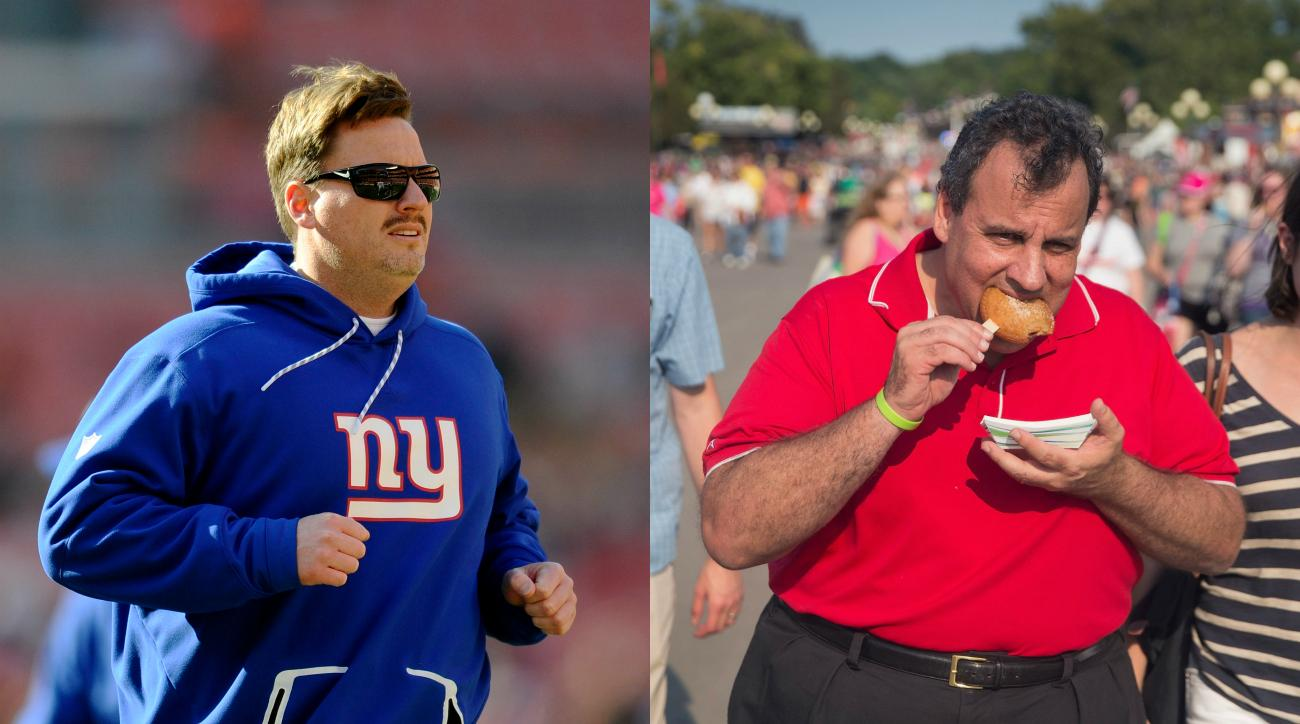 Giants' Ben McAdoo takes shot at Chris Christie with shirt