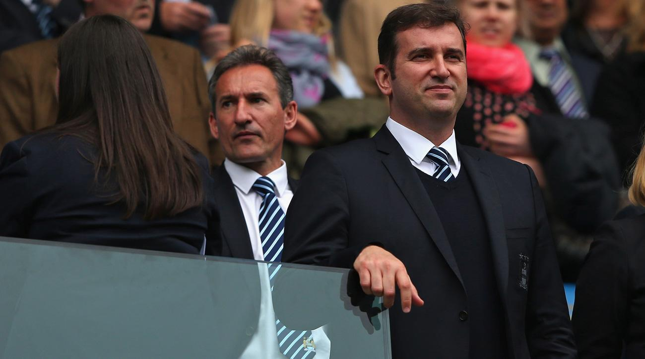 Manchester City executives Txiki Begiristain and Ferran Soriano