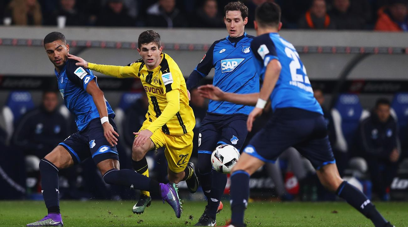 Borussia Dortmund plays Hoffenheim to a 2-2 draw in the Bundesliga
