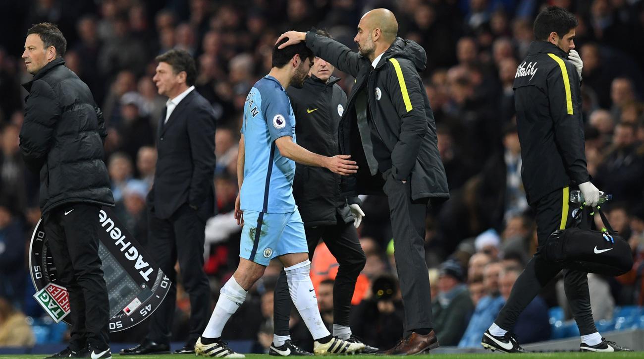 Manchester City's Ilkay Gundogan tears his ACL