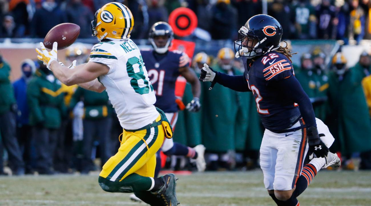 Jordy Nelson's 60-yard reception set up the Packers' game-winning field goal Sunday.