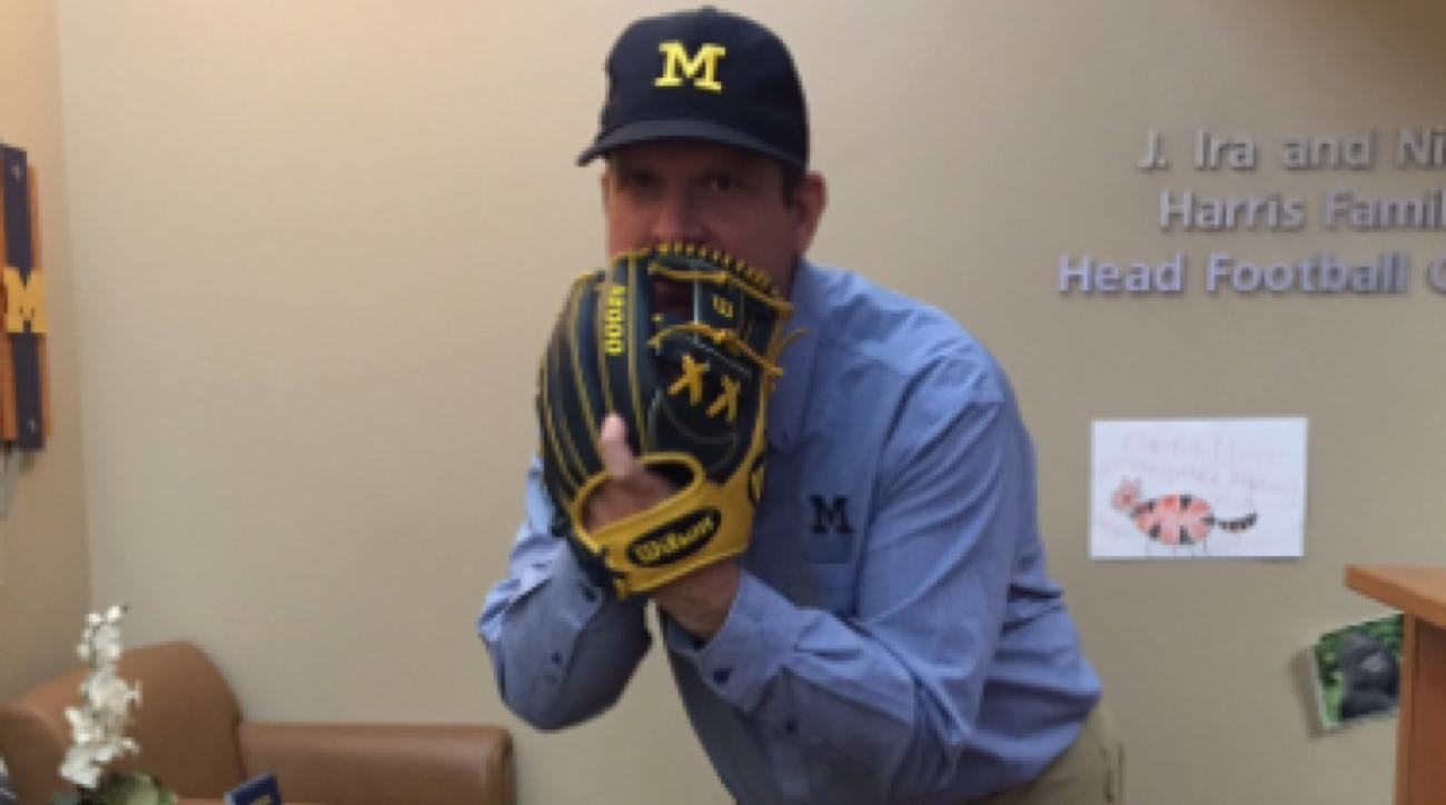 jim harbaugh has a harambe photo