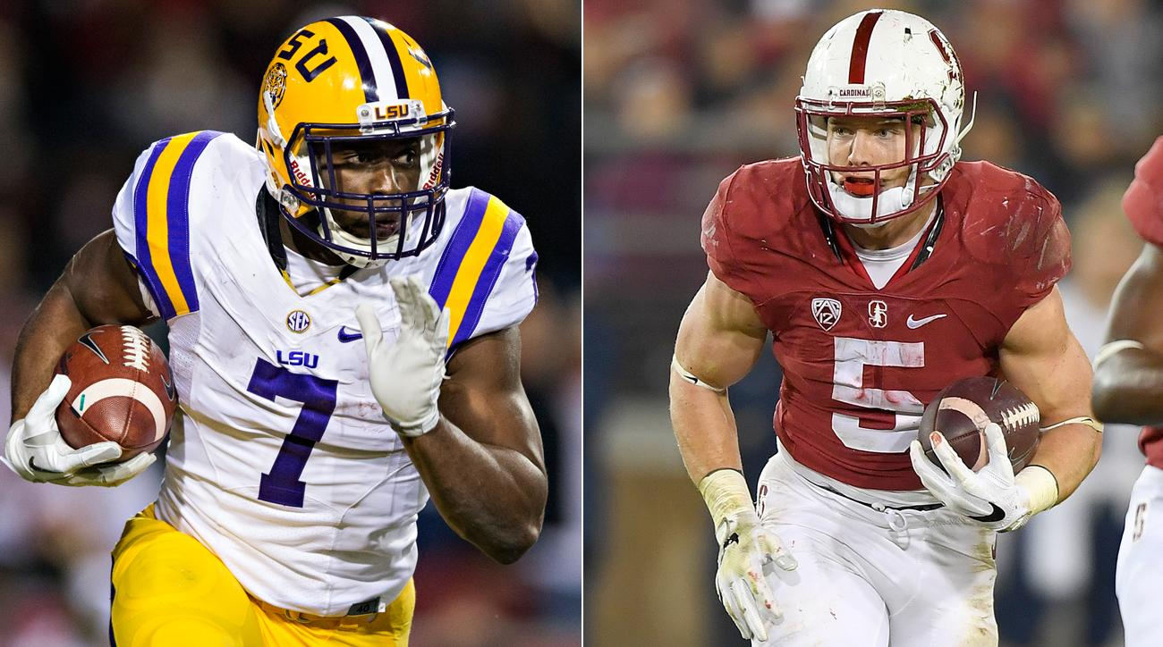 Leonard Fournette (left) and Christian McCaffrey opted not to join their teammates for bowl games.