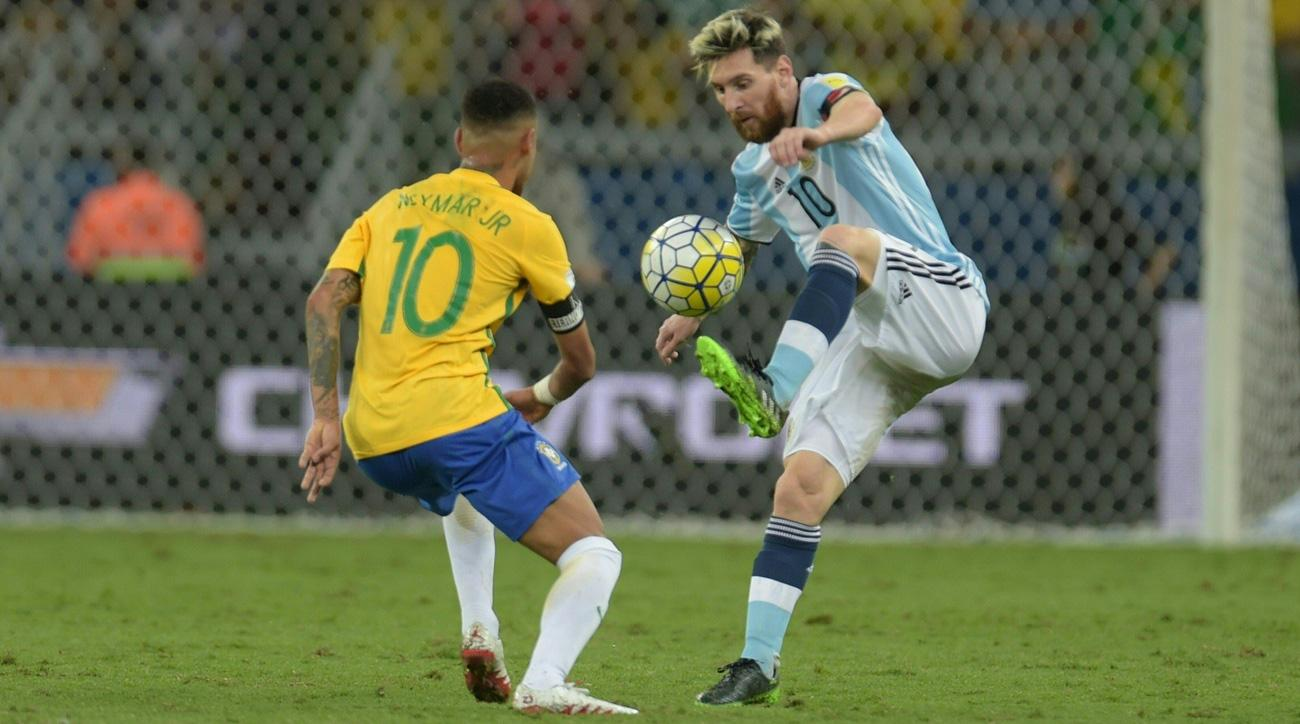 Argentina and Brazil top the FIFA world rankings