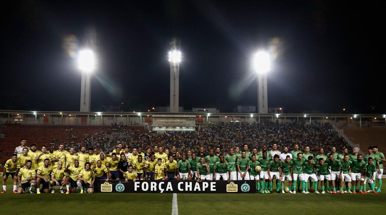 Neymar and Robinho host a charity match to pay tribute to Chapecoense