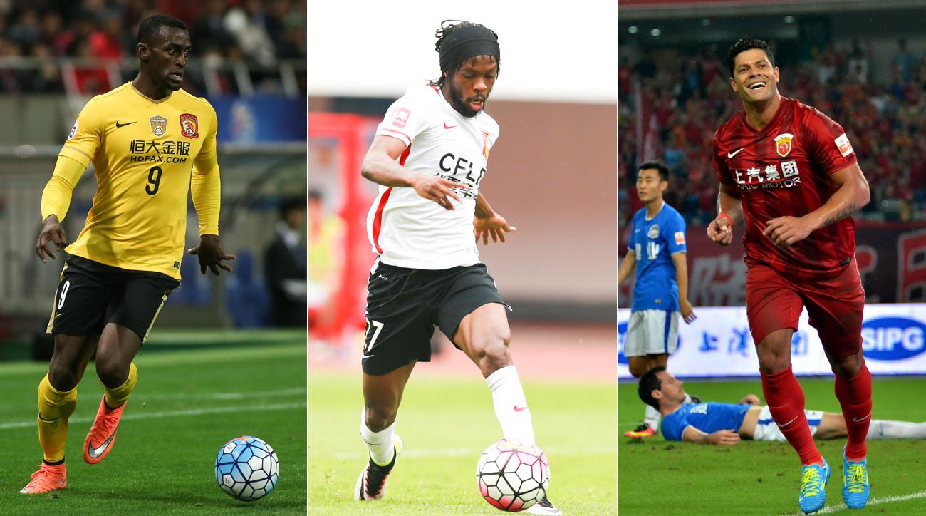 Jackson Martinez, Gervinho and Hulk all signed with clubs in China