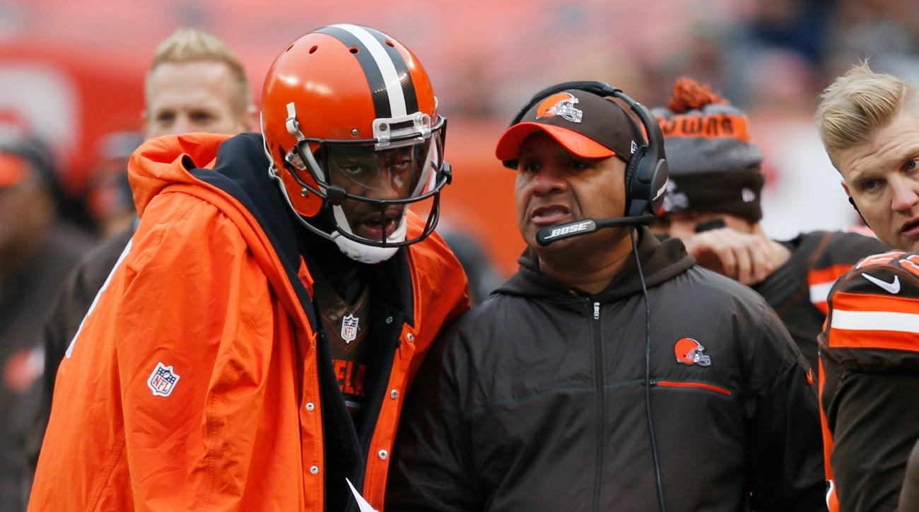 Hue Jackson was given the game ball after the Cleveland Browns' first win of the year.