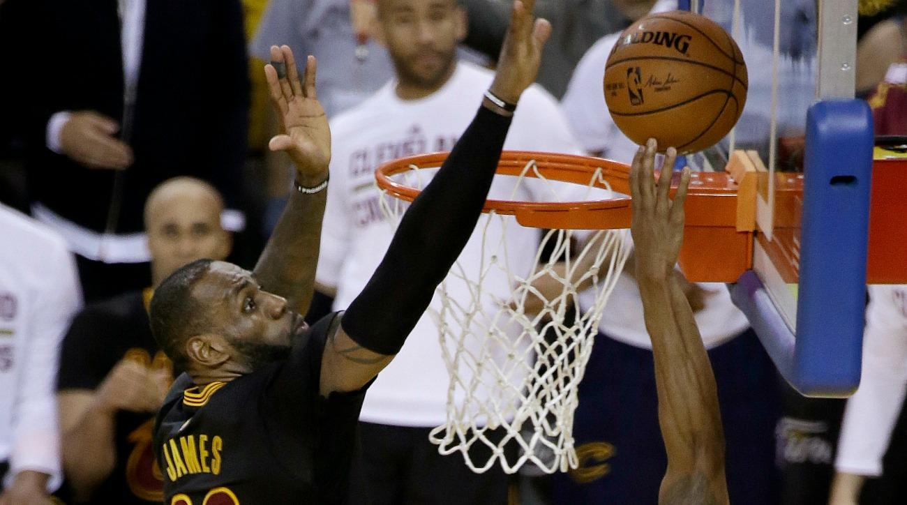 LeBron James blocked Andre Iguodala in the NBA Finals, and the Cavaliers decided to make fun of the Warriors for it.