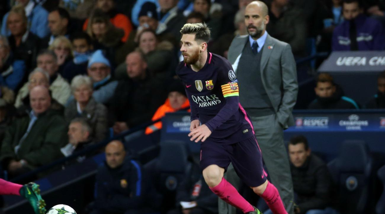 """Pep Guardiola says Lionel Messi is """"on another level"""" from other players, including Cristiano Ronaldo."""