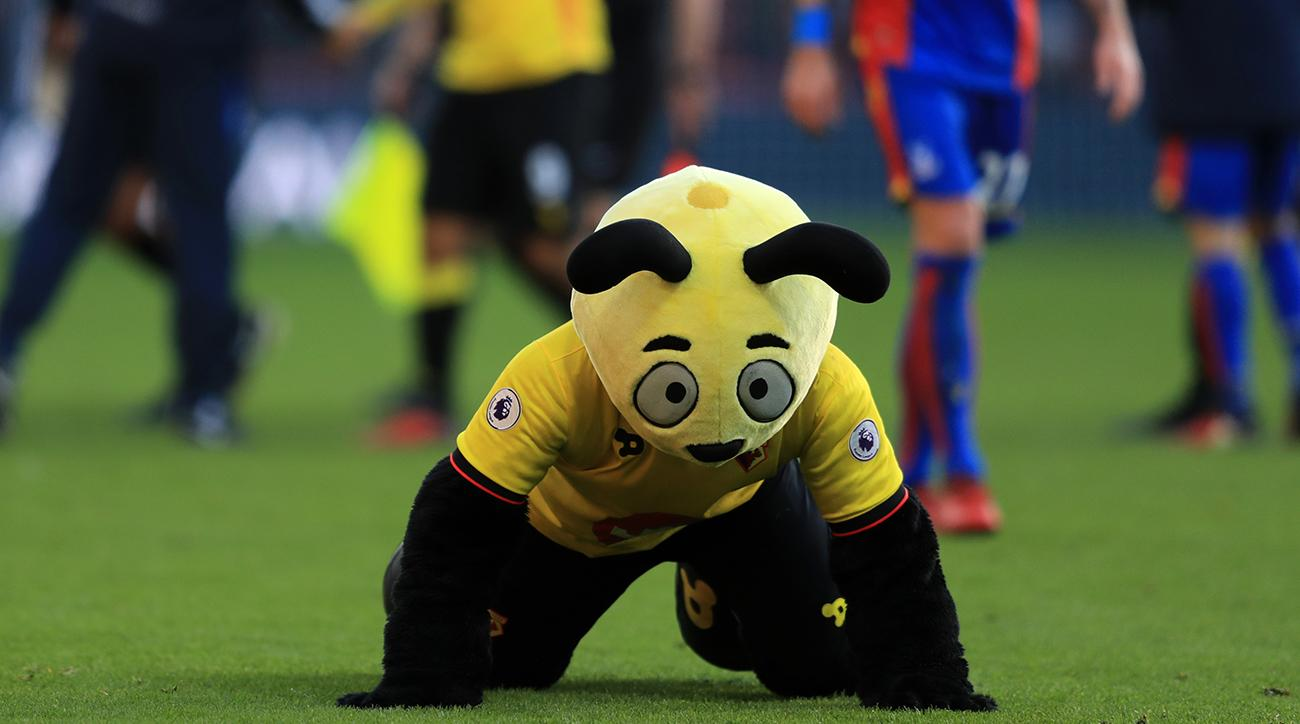 harry the hornet dives in front of wilfried zaha