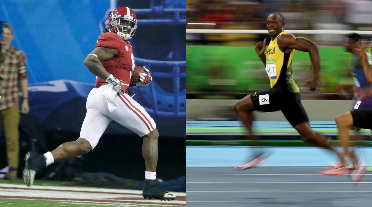 Alabama's Bo Scarbrough smiles like Usain Bolt (photo)