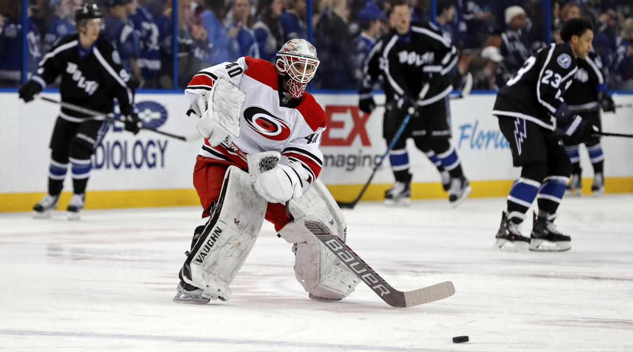 Hurricanes sign equipment manager to as backup goalie