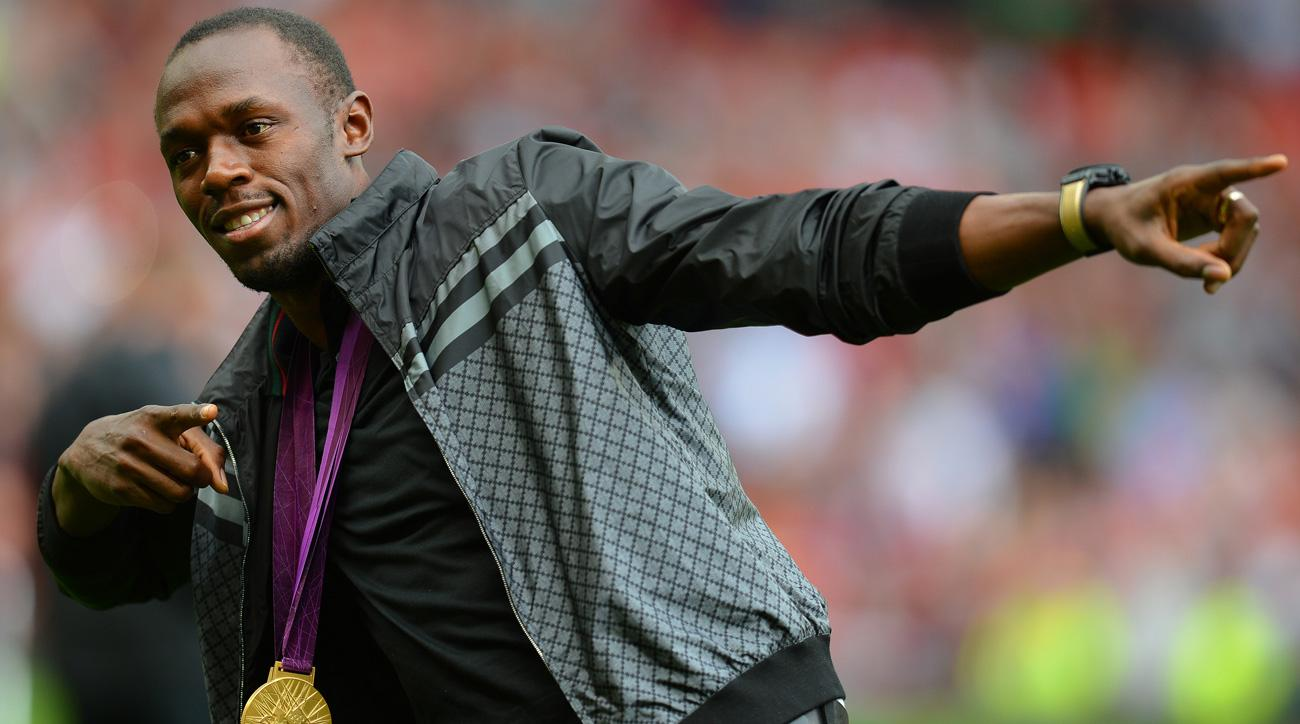 Usain Bolt calls into Manchester United's postgame fan show