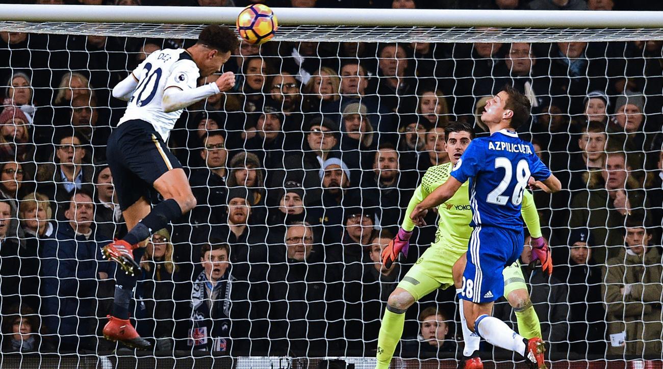Dele Alli scores for Tottenham against Chelsea