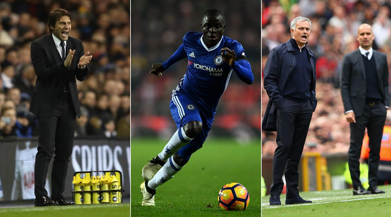 Antonio Conte, N'Golo Kante, Jose Mourinho and Pep Guardiola have shaped the start of the Premier League season