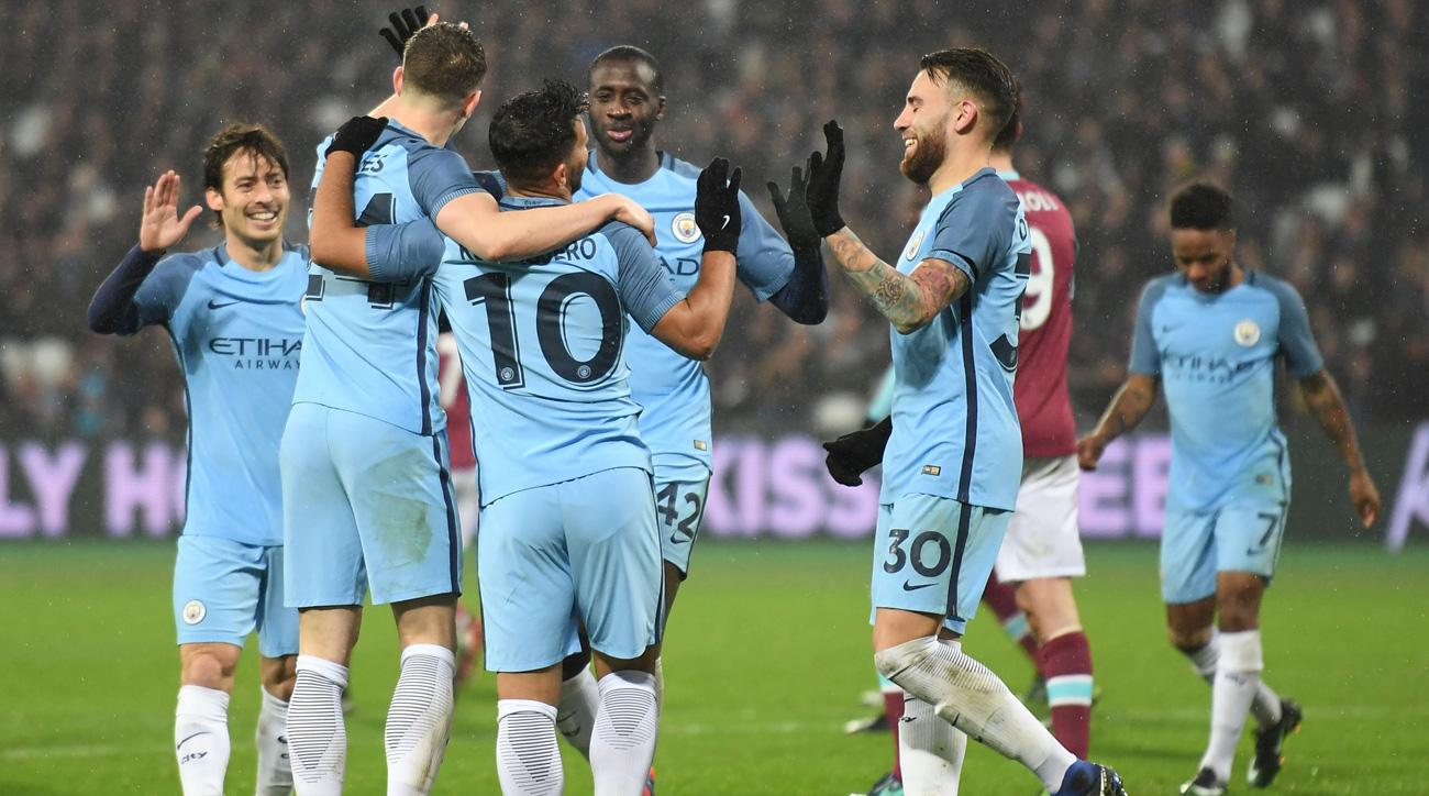 Manchester City routs West Ham in the FA Cup