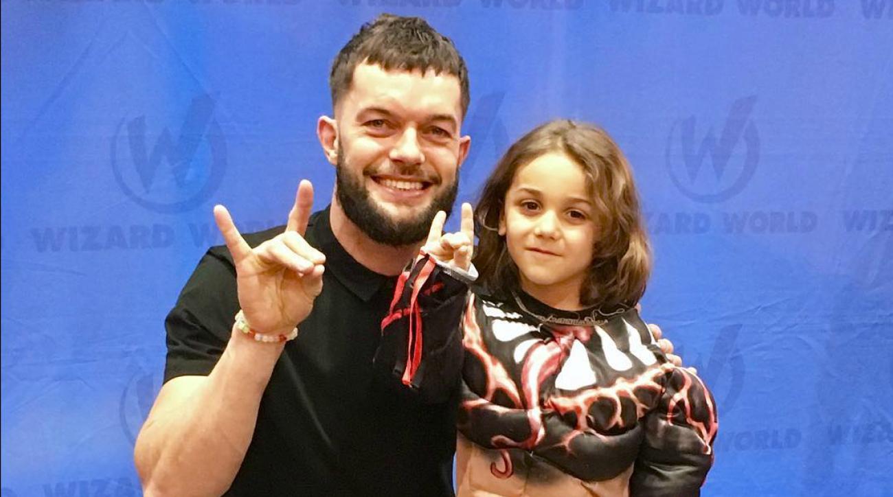 WWE's Finn Balor picks up nervous fan at Comic Con VIDEO