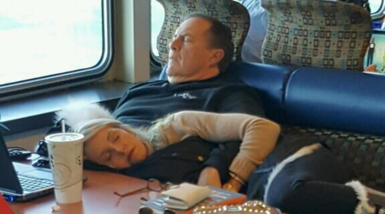 Patriots playoffs: Bill Belichick on a boat (photo)