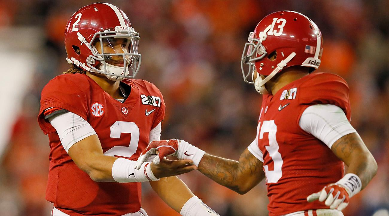 Jalen Hurts gave Alabama football the lead in the national championship game.