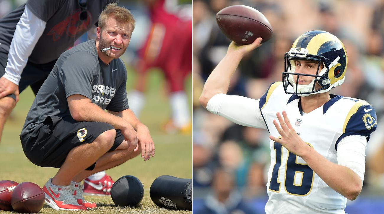 The Rams are considering hiring offensive guru Sean McVay, who would inherit young quarterback Jared Goff.