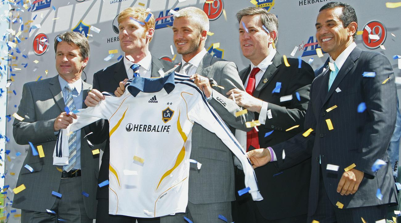 David Beckham signed with the LA Galaxy 10 years ago as MLS's first Designated Player