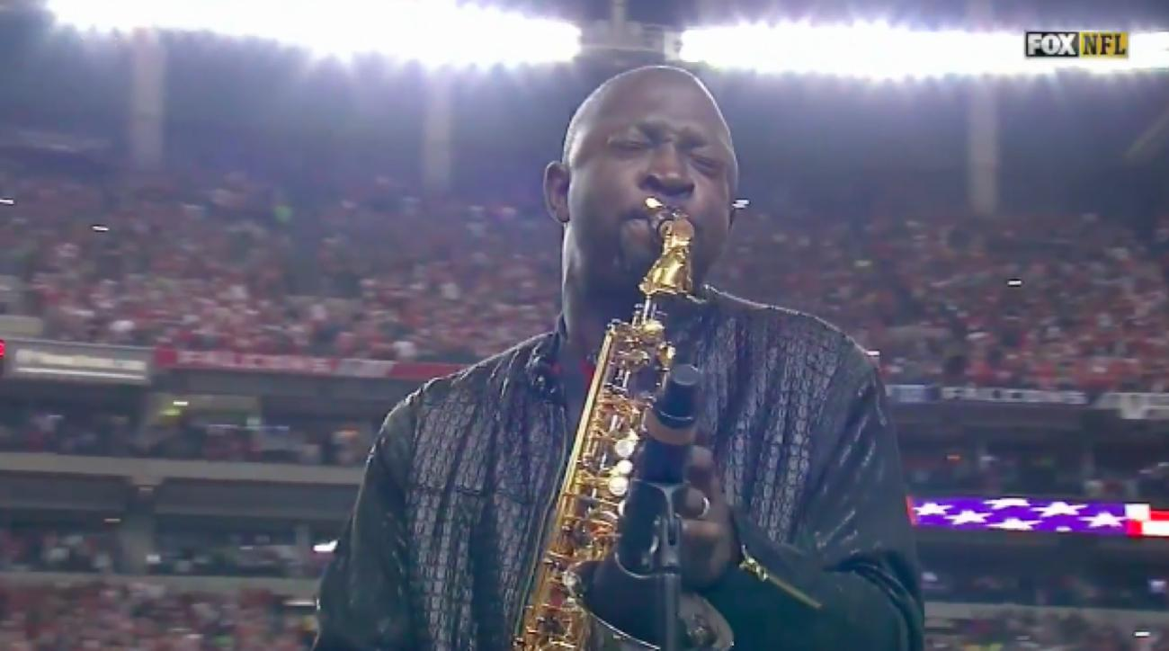 saxophone national anthem video