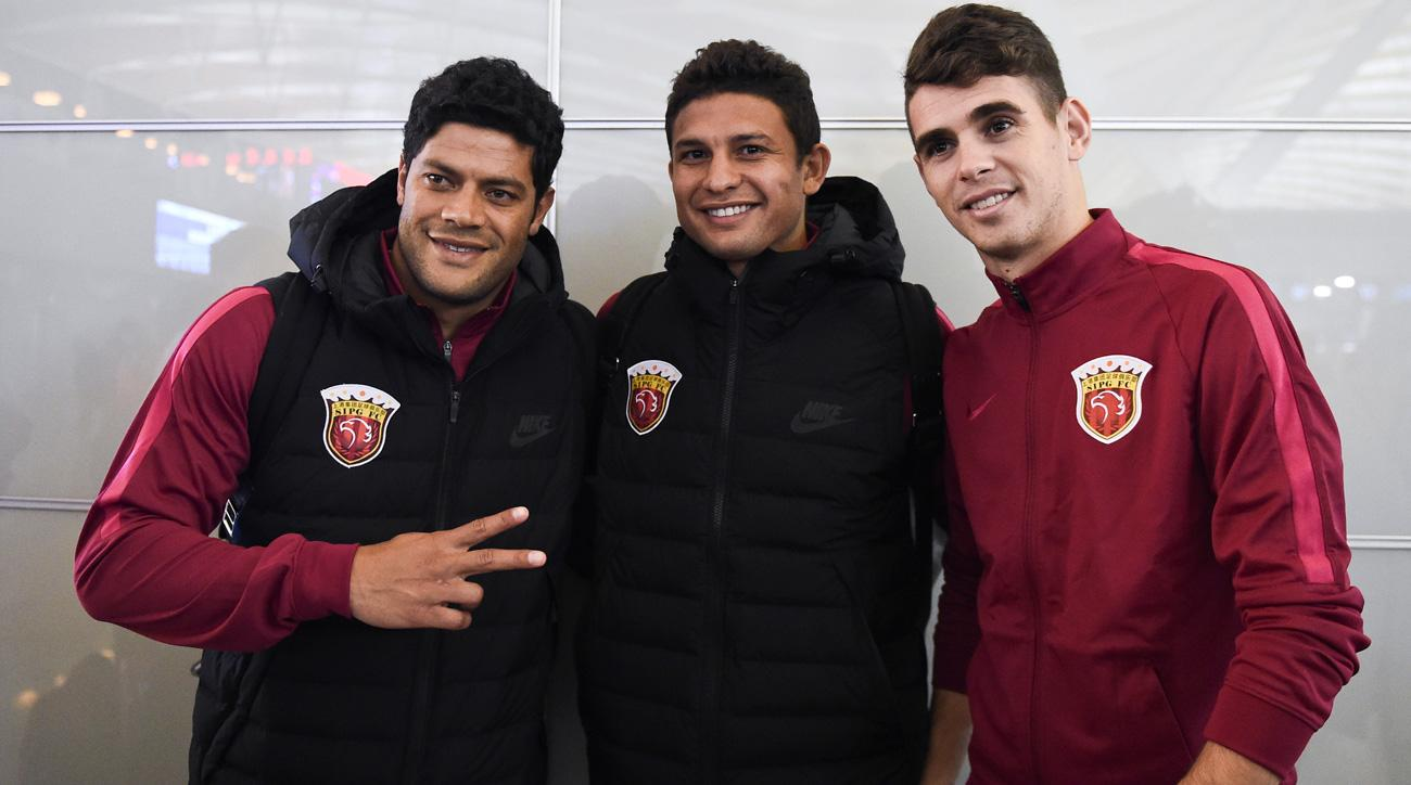 Oscar and Hulk have signed for big money in China