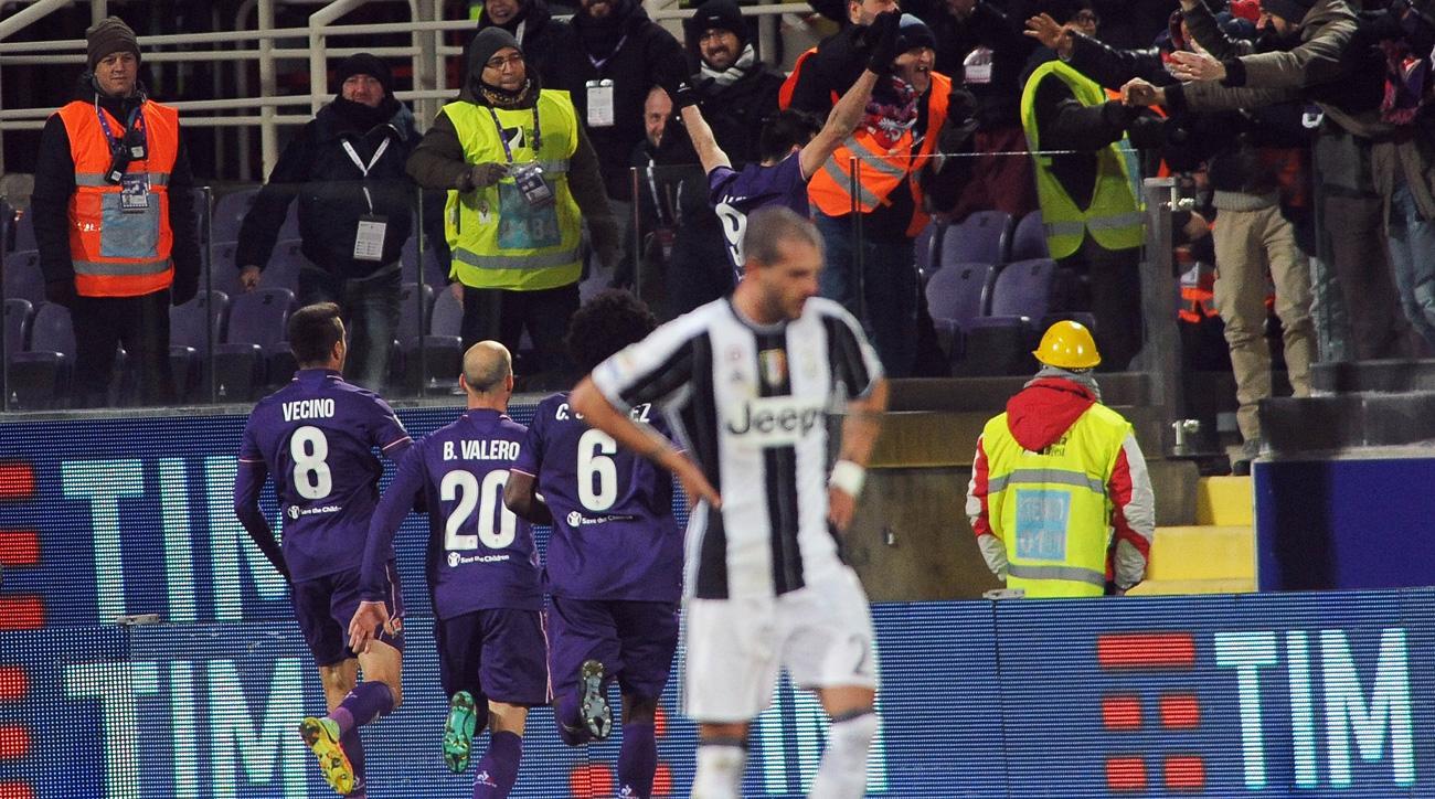 Juventus falls to Fiorentina in Serie A
